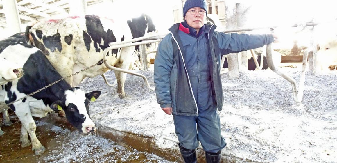 有限会社日本酪農清水町共同農場 井上社長